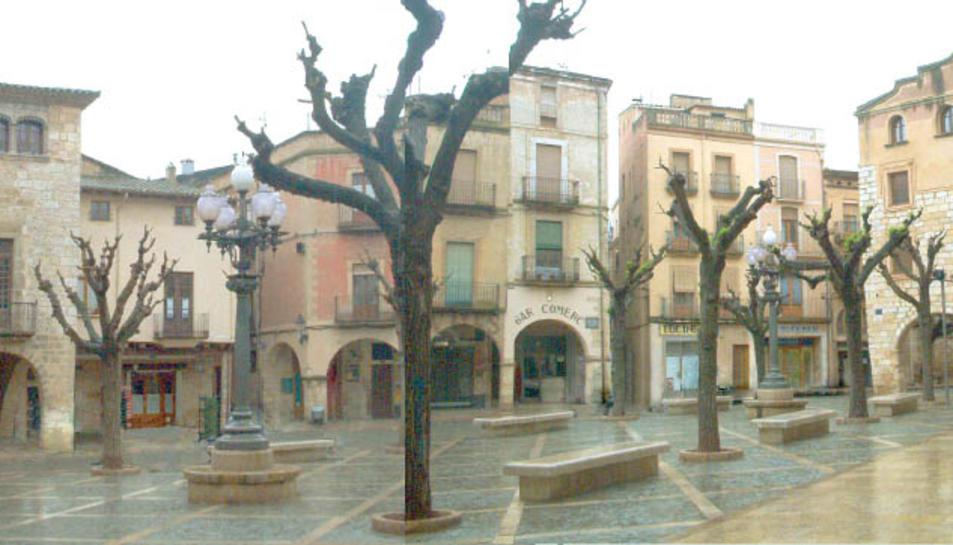 Vista de la plaça Major de Montblanc.