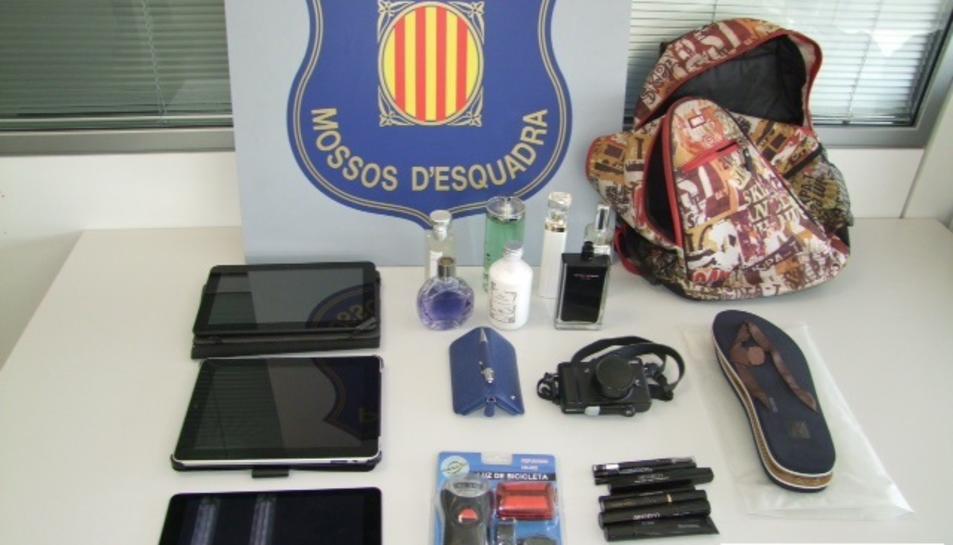 Els objectes sostrets en el robatori al domicili de Valls.