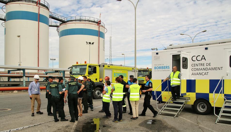 Imatge del simulacre realitzat aquest 15 de setembre al Port de Tarragona.