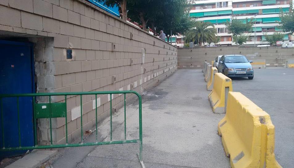 SPiSP denúncia la perillositat d'un mur sense arreglar