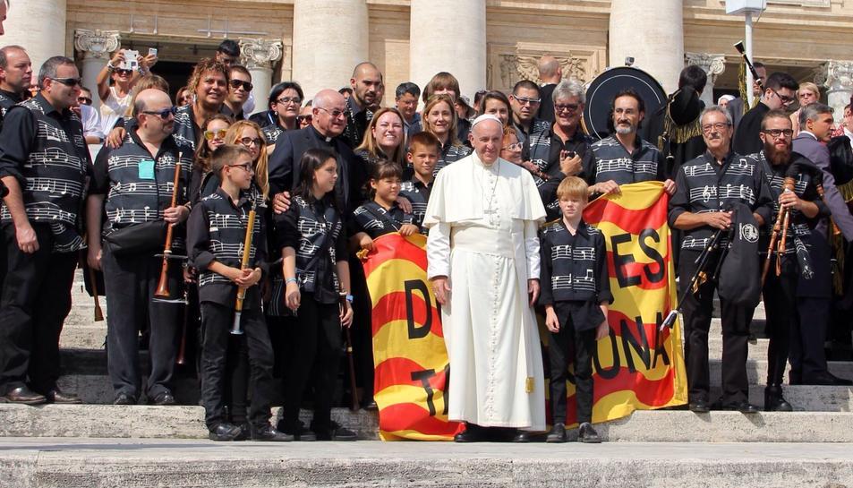 El tarragoní que va abraçar el Papa Francesc