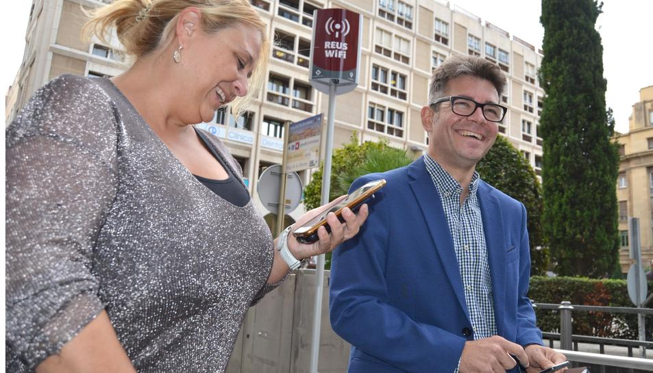 Aquest dimarts els regidors implicats en el projecte van fer la presentació del 'Reus Wifi'