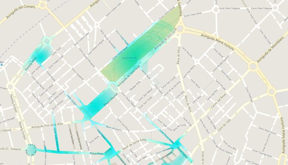 Mapa de cobertura de 'Reus Wifi'