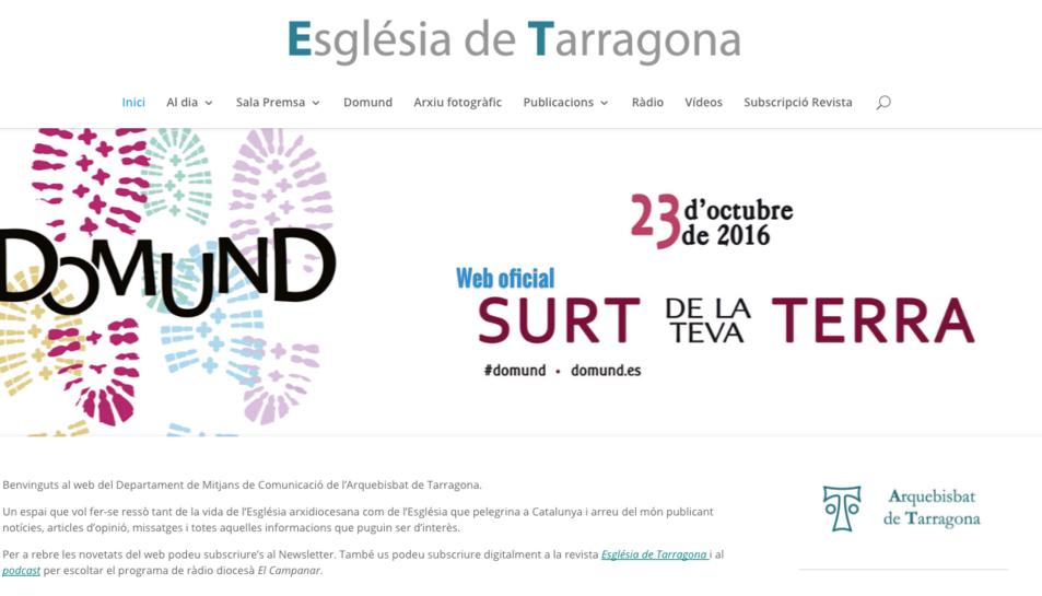 L'Arquebisbat estrena el nou web 'Església de Tarragona'