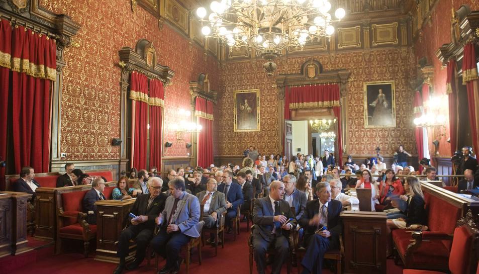 Imatge del saló de plens, escenari del pregó de Santa Tecla.