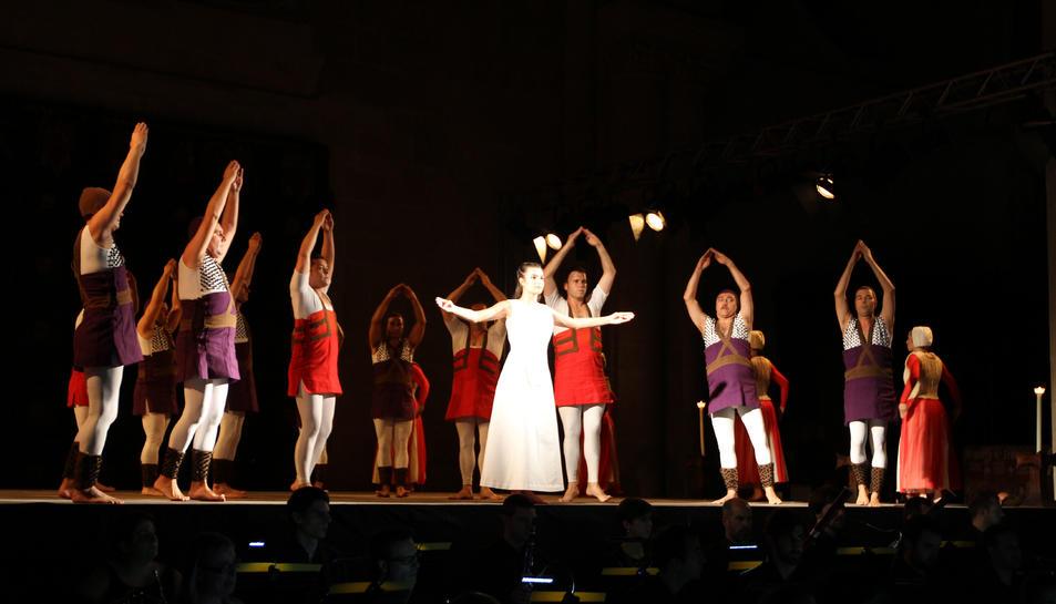 El Retaule de Santa Tecla va celebrar el seu 25è aniversari amb una representació acompanyada d'una simfònica.