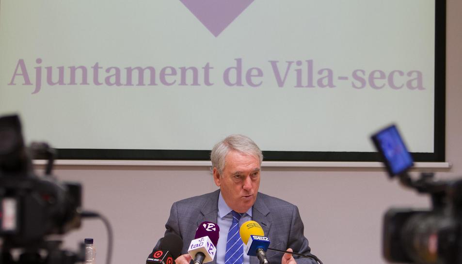Josep Poblet durant la roda de premsa, aquest dimecres 21 de setembre.