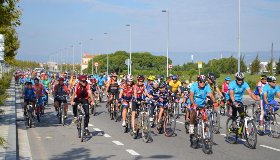 Imatge de la Diada de la Bicicleta celebrada a Vila-seca el 2015.