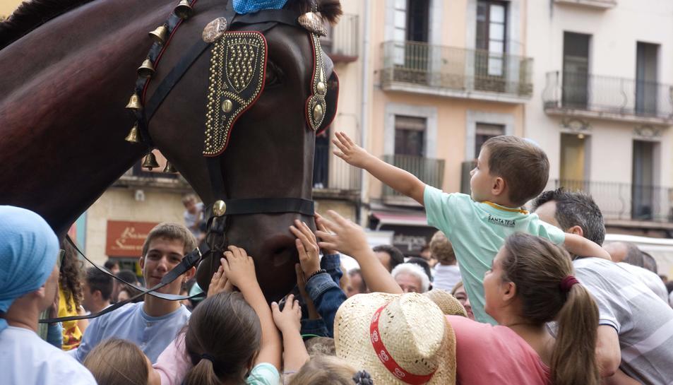Els més petits gaudeixen de la presència dels bestiari popular al Seguici.