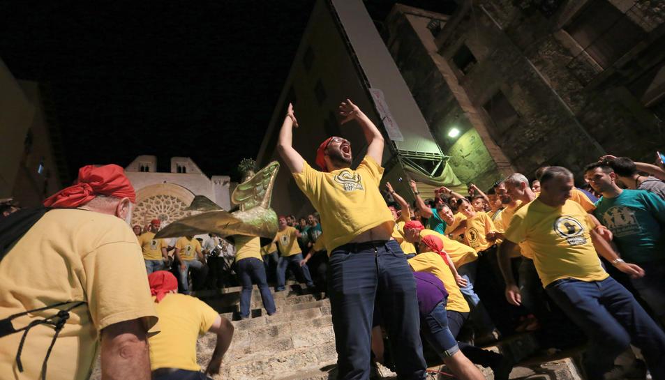 Imatge de la Baixada de l'Aliga de Santa Tecla 2016
