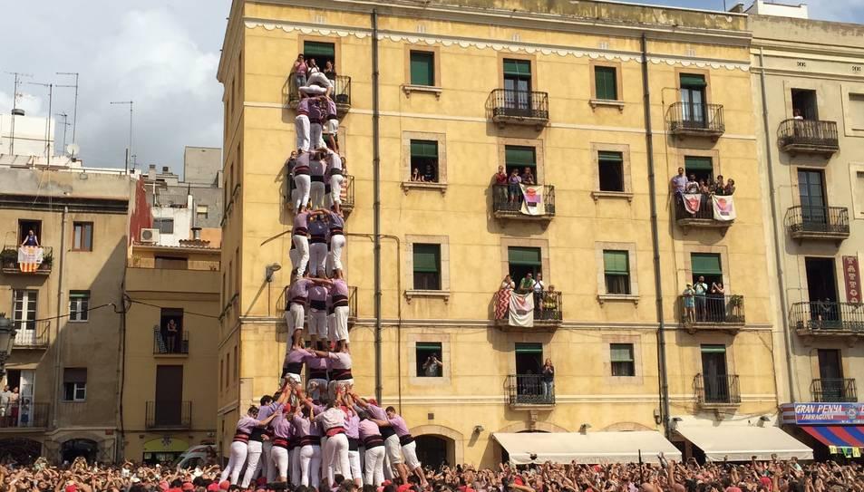 5de9f de la Colla Jove de Tarragona a la diada de Santa Tecla.