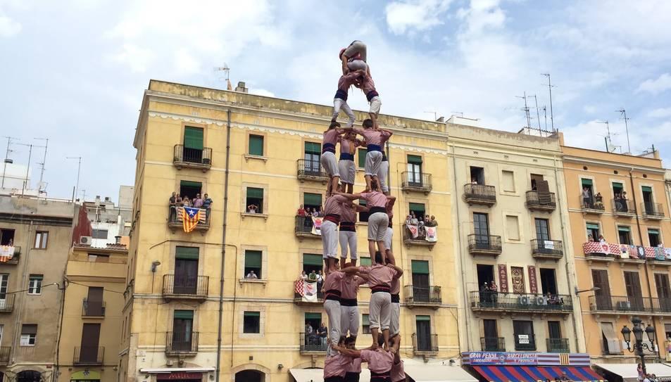 4de8 dels Xiquets de Tarragona a la diada de Santa Tecla.