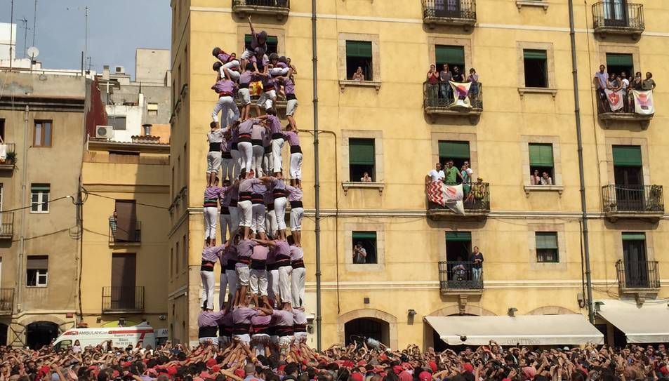 9de8 de la Colla Jove de Tarragona a la diada de Santa Tecla.