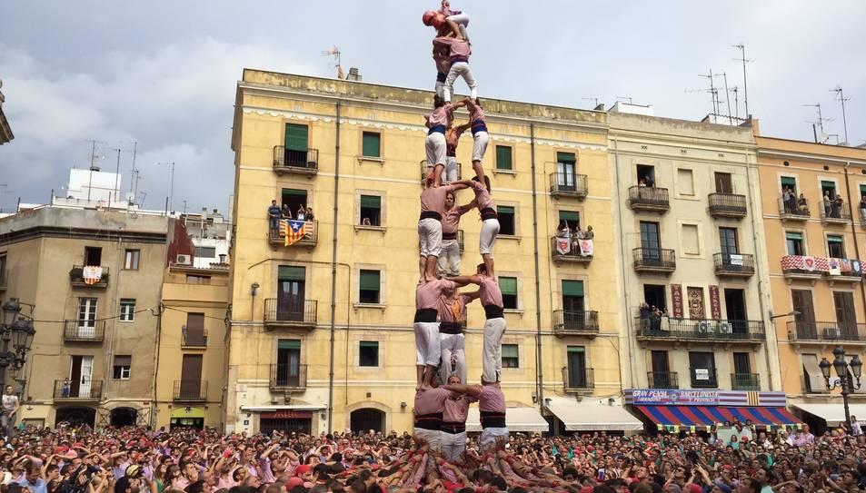 3de8 dels Xiquets de Tarragona a la diada de Santa Tecla.