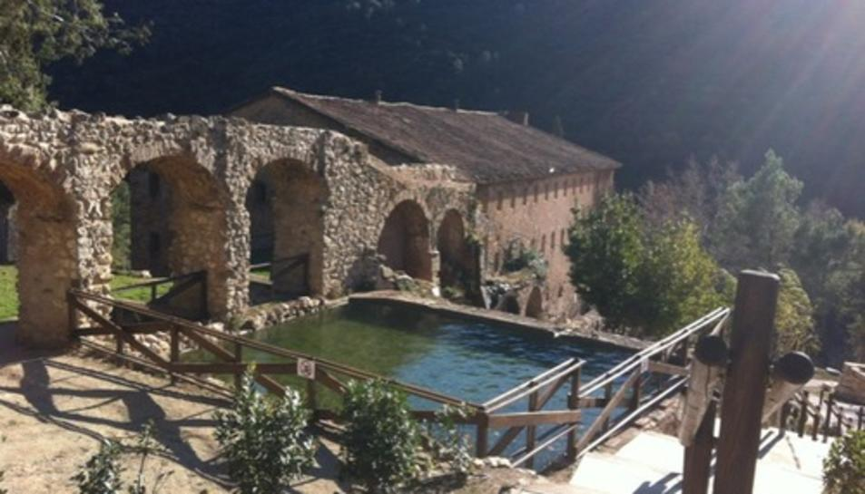 L'home feia barranquisme a la zona de Mas de Forès, a Alcover.