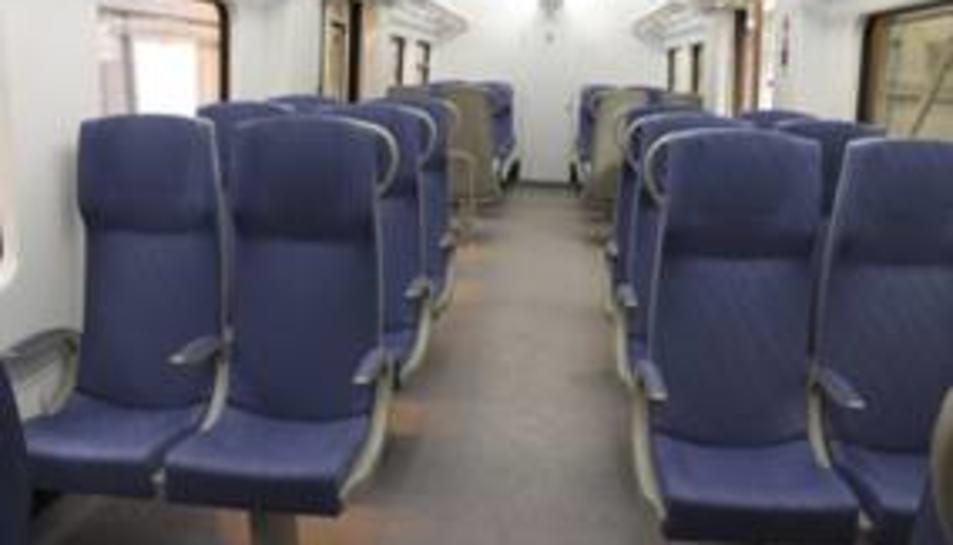 Imatge dels trens regionals remodelats.