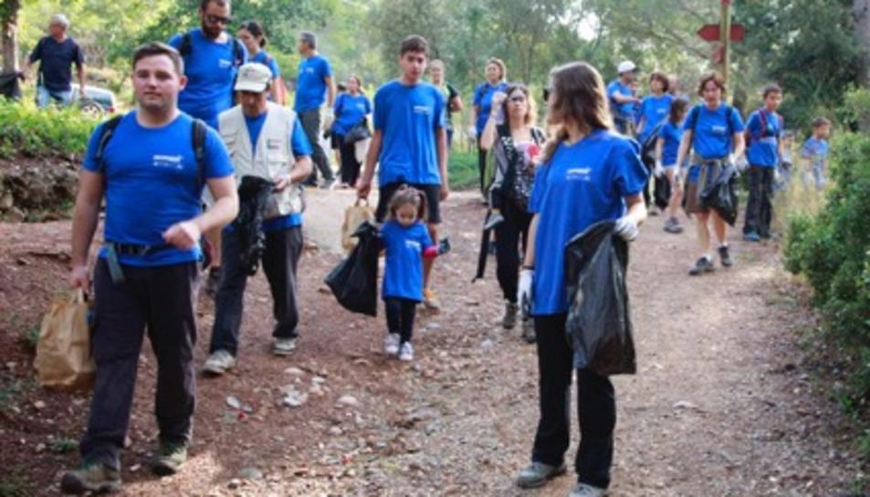 Els voluntaris van recollir els residus