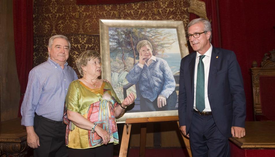 Joaquim Icart, Olga Xirinacs i Josep Fèlix Ballesteros, aquest dimarts al vespre.