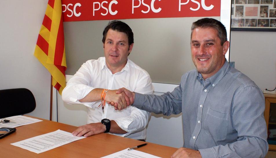 Ramon Ferré (a la dreta) i José Manuel Tejedor en una imatge d'arxiu del juny de 2015.