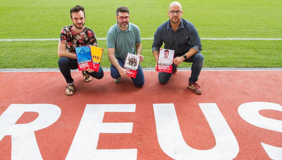 D'esquerra a dreta: Marc Díez, Sergi Herrera i Xavi Guix.