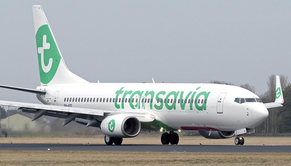 Imatge d'arxiu d'un avió de la companyia Transavia.