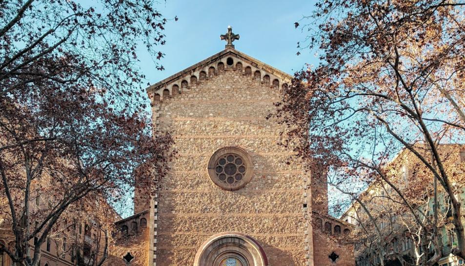 Façana de l'oratori Sant Joan de Gràcia.