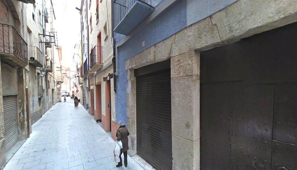 Un dels carrers del barri Antic de Valls.