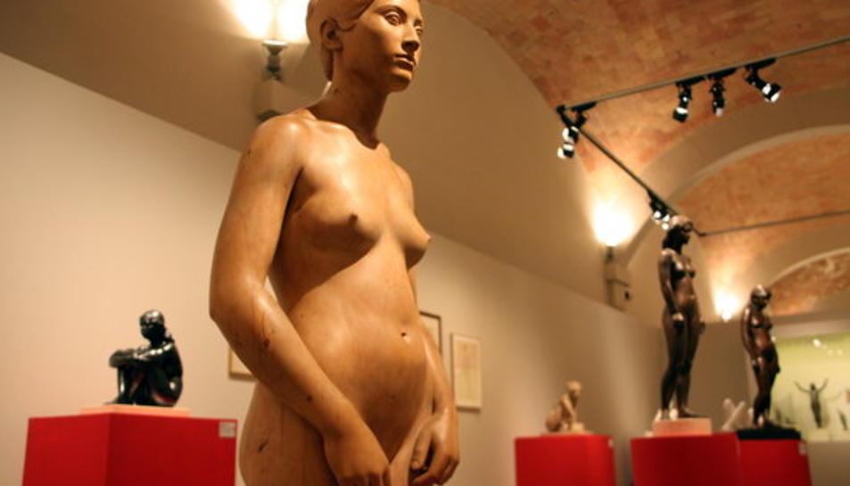 Escultures de Jassans a l'exposició del Museu de Montserrat.
