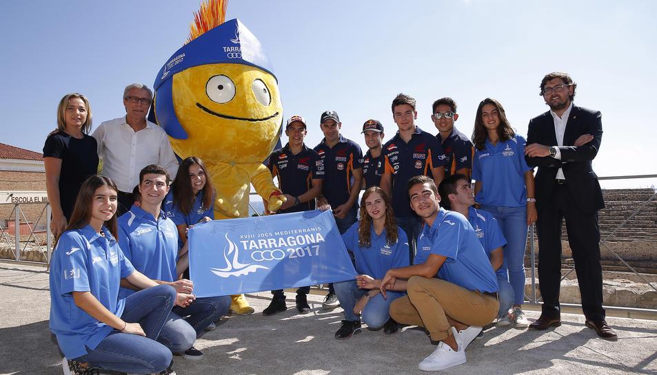 L'equip Repsol Honda a Tarragona.