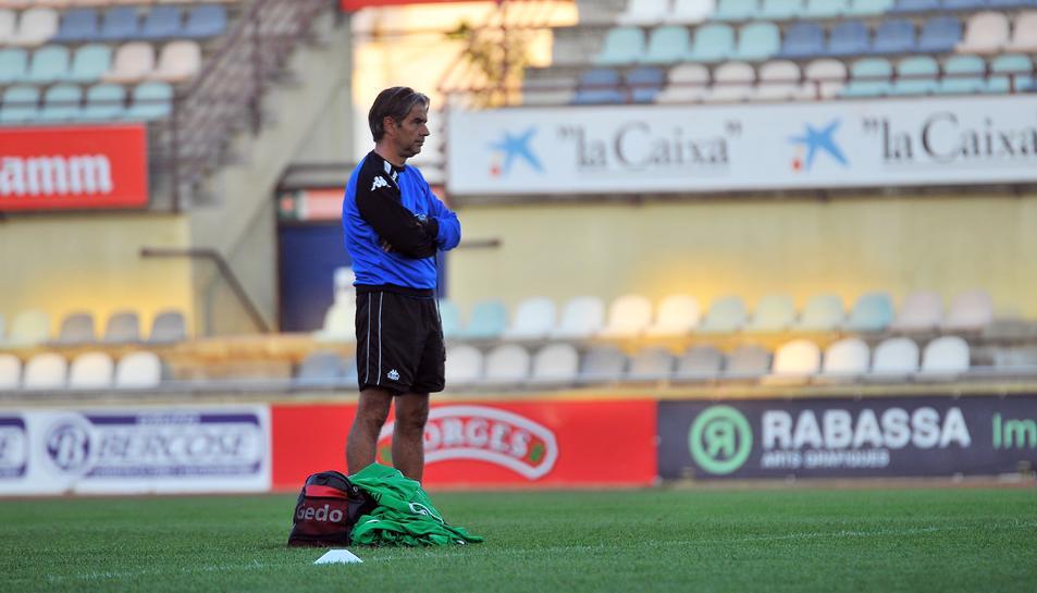 Natxo González ho té tot preparat pel partit d'aquesta tarda.