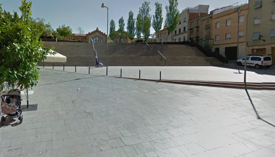 La plaça de la Pagesia, on van tenir lloc els fets.