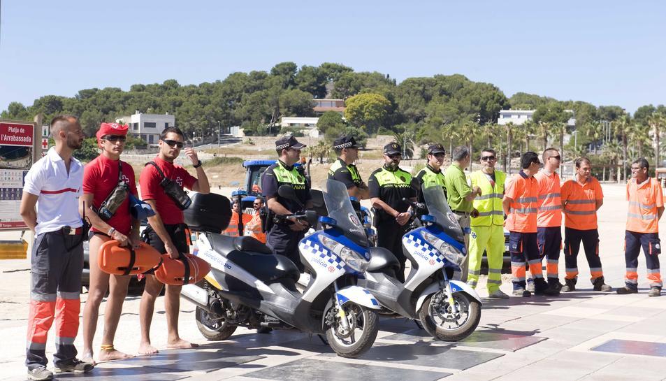 imatge de la presentació del dispositu de platges de Tarragona.
