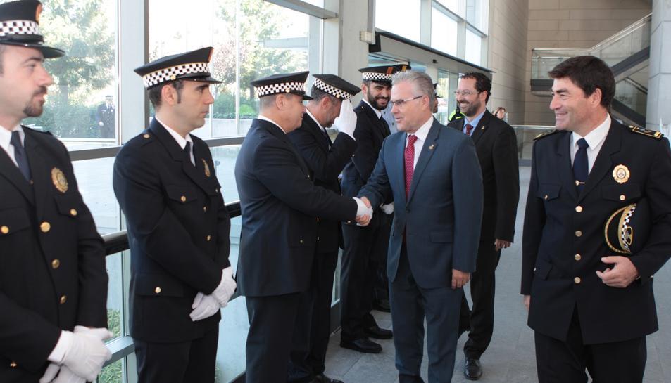 Imatge de l'acte de la celebració del dia del Patró de la Polícia Local de Salou