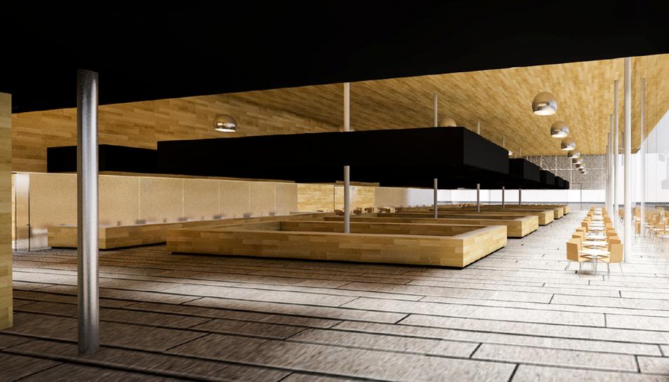 L'interior de la sala serà molt més lluminosa i es vol que sigui més dinàmica.