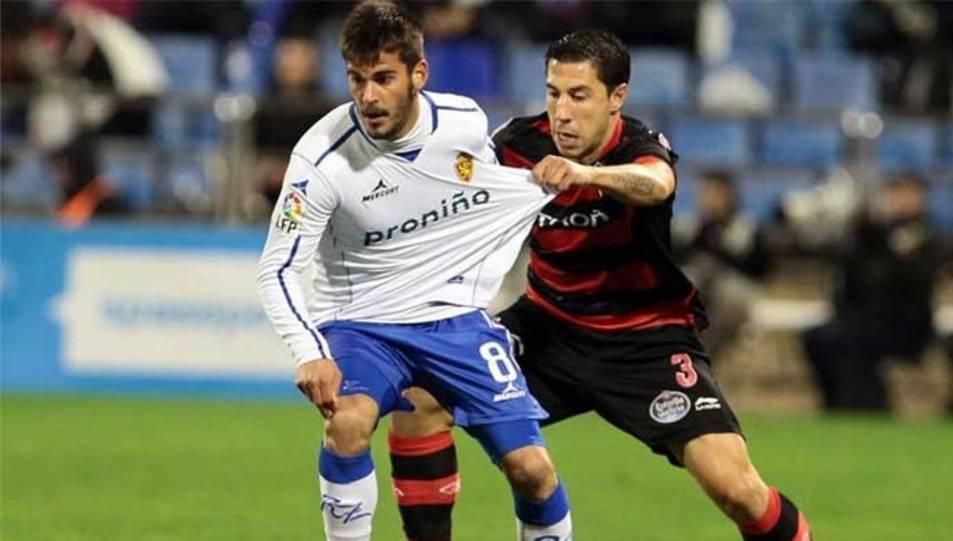 Edu Oriol, amb la samarreta del Saragossa, un dels darrers equips en els quals ha militat.