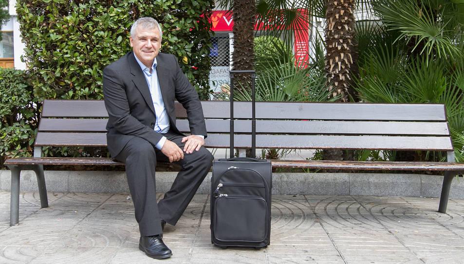 José Espatero, cap de màrqueting de Ryanair, aquest dimarts a la plaça Prim.