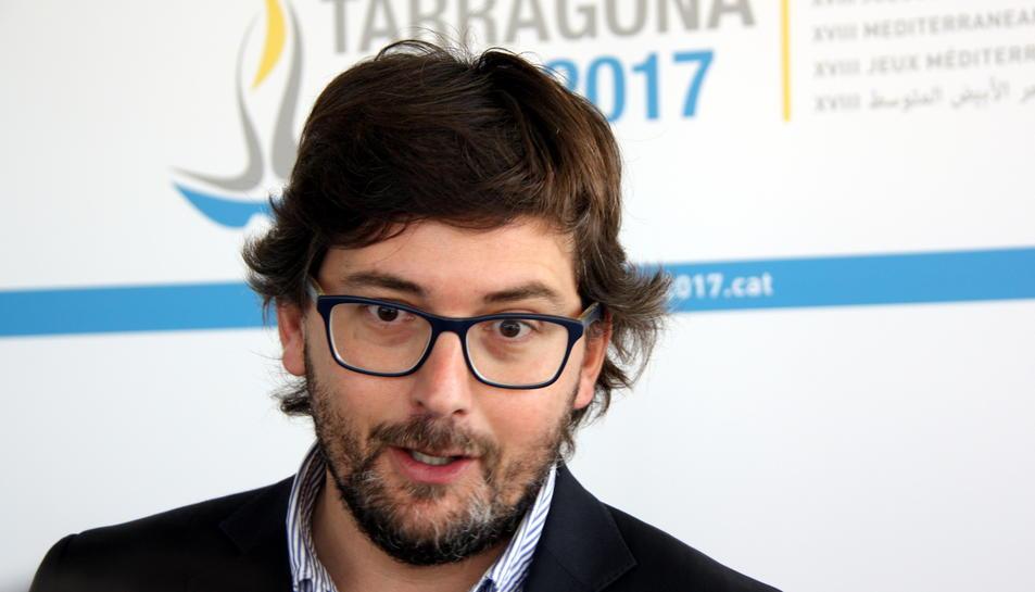 Primer pla del coordinador dels Jocs Mediterranis Tarragona 2017, Javier Villamayor.
