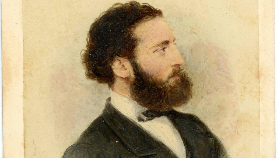 Retrat d'estudi d'Antoni Gaudí fet pel fotògraf Leopoldo Rovira, datat aproximadament de l'any 1878.