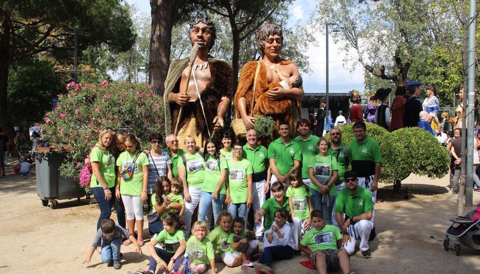 La colla gegantera de l'Espluga a la localitat del Prat de Llobregat