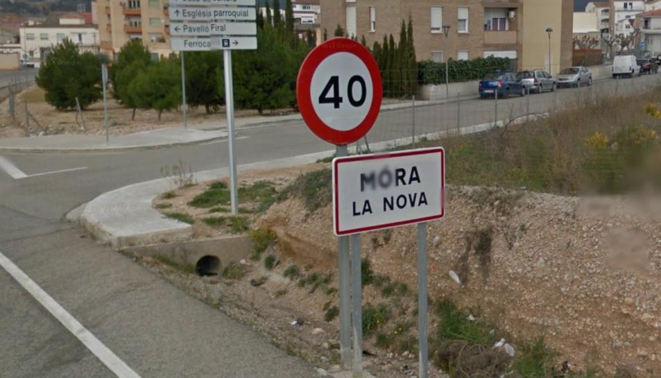 El cartell de l'entrada