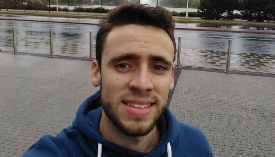 Eduard Rebollo, de 23 anys, al llac Malta de Poznan.