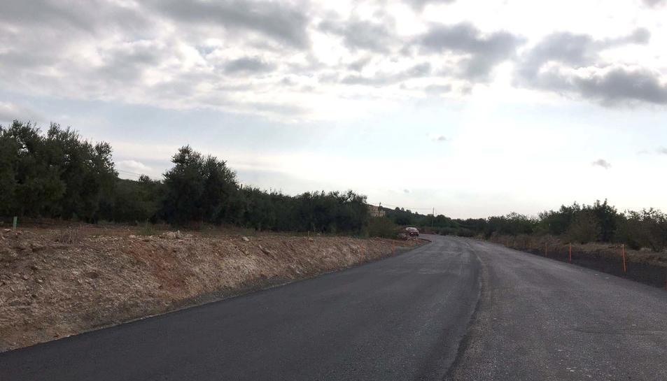 Un dels trams de la carretera en obres.