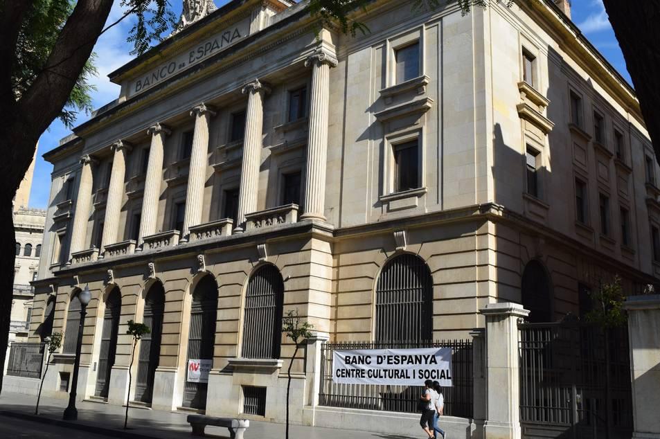 Imatge de la façana de l'edifici del Banc d'Espanya