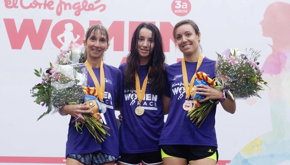 Les tres guanyadores de la prova.