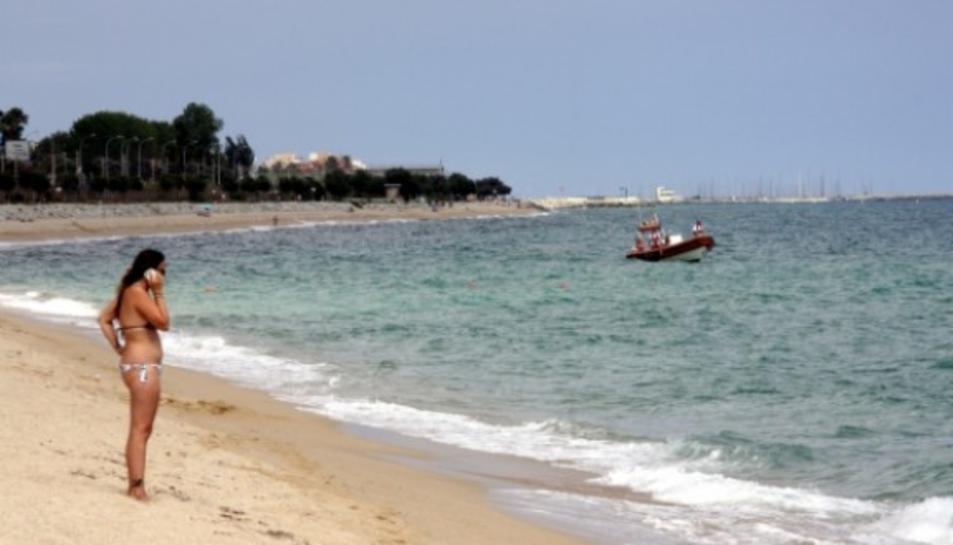 Una imatge d'arxiu de la platja de la Pineda.
