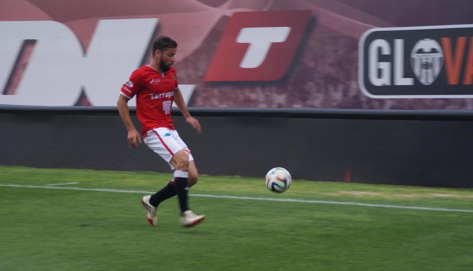 Xavi Molina, en acció.
