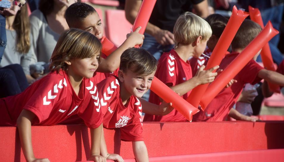 Las imágenes de la presentación del fútbol base del Nàstic