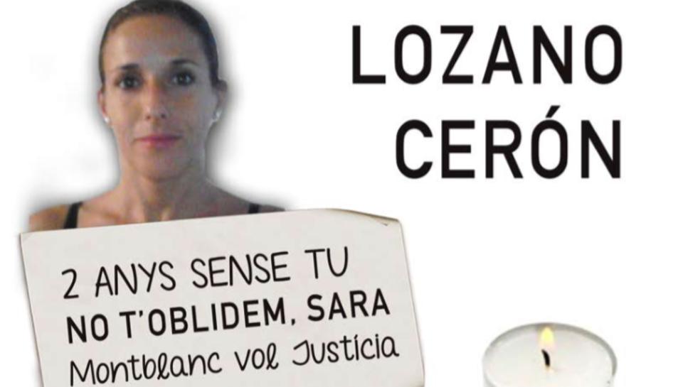 Imatge del cartell de la tercera concentració per demanar justícia per Sara Lozano.