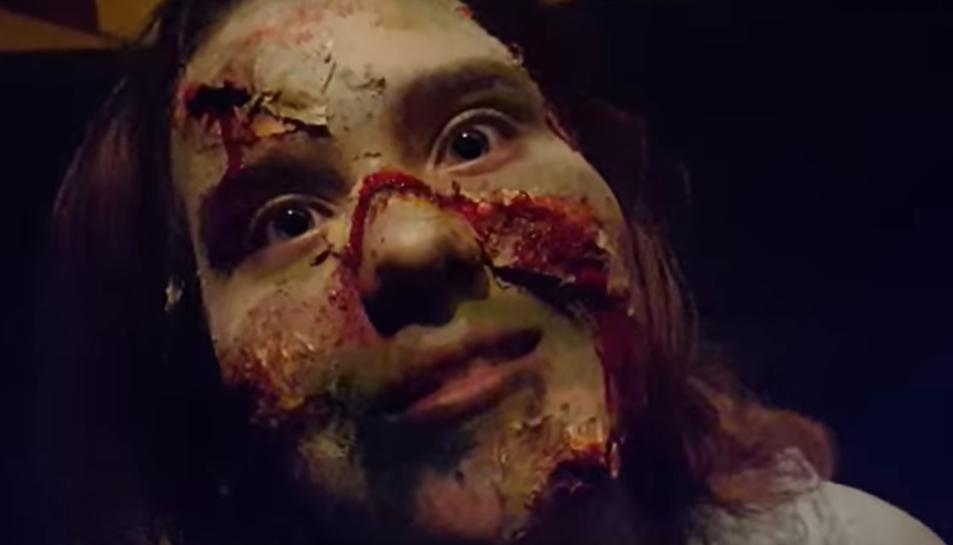 Un fotograma del vídeo de la passada edició del passatge de terror.