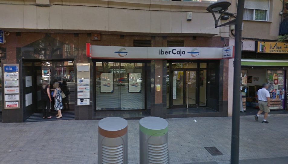 L'oficina d'Ibercaja del Passeig Prim.